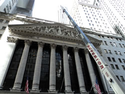 NY Stock Exchange photo shoot for documentary