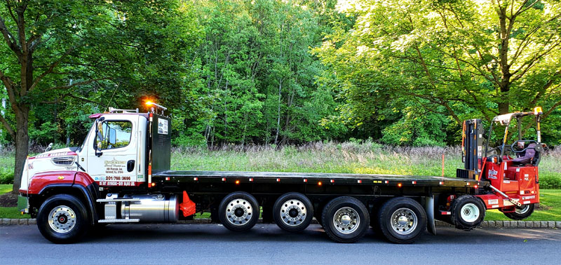 "Freightliner 5 axle Flatbed Straight Truck with 24'4"" extra heavy bed"