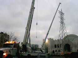 Removal of power line tower