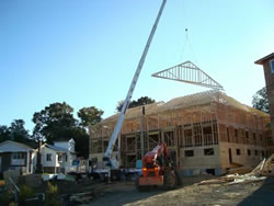 Setting Roof Trusses